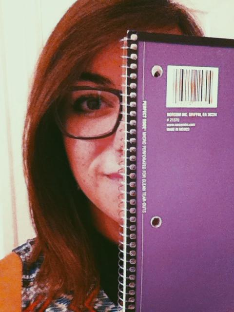 Allison is more feisty, so she went with a purple notebook.