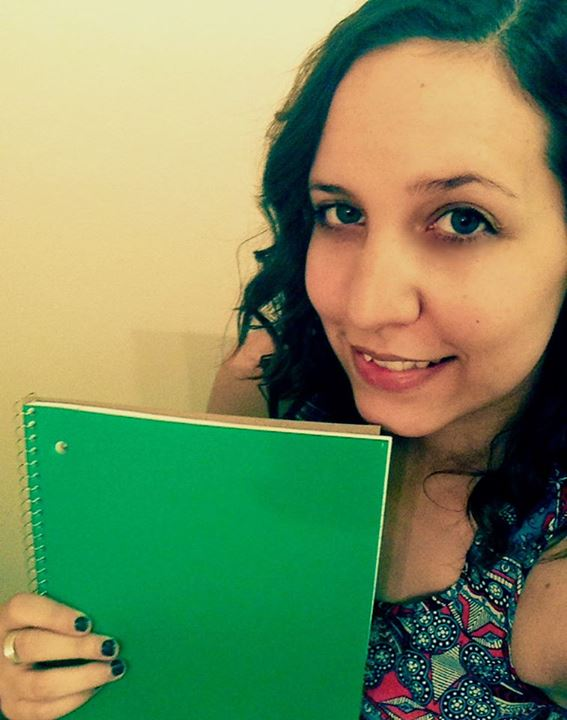 Mel's got a lovely green notebook she'll be filling up in the month of November.