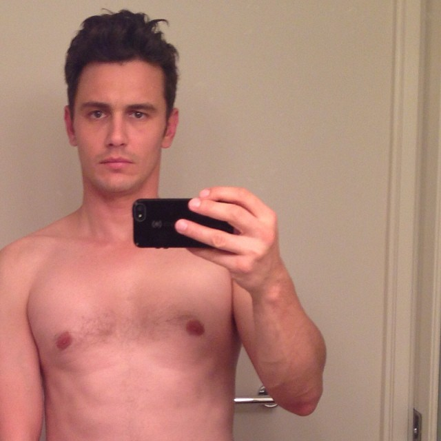 (Credit: James Franco's Facebook Wall, also know as a Selfie--which he should feel free to post more of)